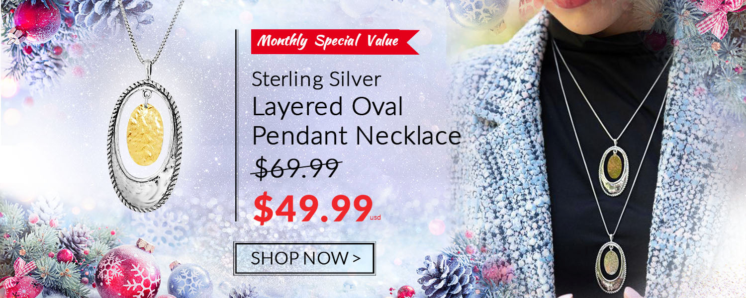 two-tone-silver-oval-pendant-with-hammered-yellow-gold-disc danny newfeld collection