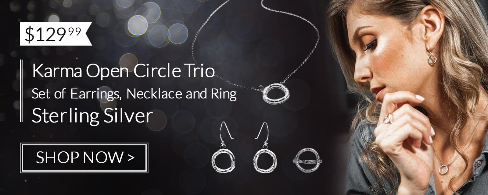 sterling silver karma jewelry set danny newfeld collection