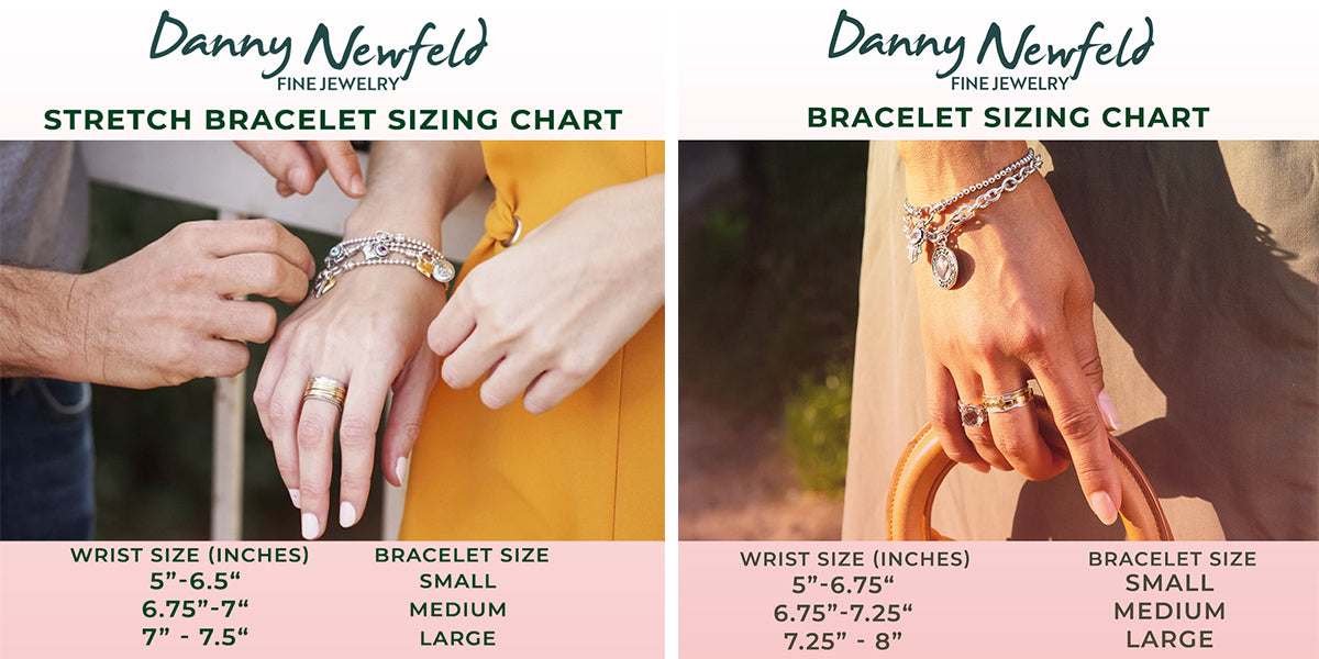danny newfeld collection bracelet sizing chart