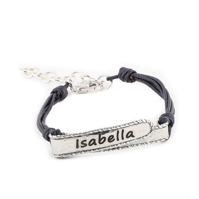 Personalized Cord Bracelet Sterling Silver - Danny Newfeld Collection