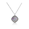 Roman Glass Diamond-Shaped Pendant Necklace Sterling Silver - dannynewfeld