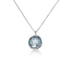 Roman Glass Round Pendant Necklace Sterling Silver - dannynewfeld