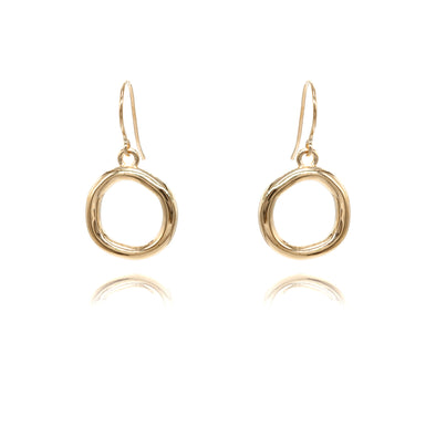 14K Gold Karma Earrings
