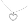 14K Gold Heart 0.5 cttw Diamond Pendant Necklace