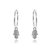 Hamsa Charm Hoop Earrings ONE INCH