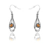 Gemstone Dangle Earrings Sterling Silver