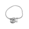 Stretch Charm Bracelet with Pearl and Saints Charm Sterling Silver