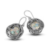 Roman Glass Shepherd's Hook Earrings Sterling Silver - dannynewfeld