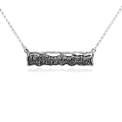 Sterling Silver Jerusalem Bar Necklace from the Holy Land