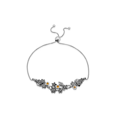 Friendship Bracelet with Gemstones Sterling Silver - dannynewfeld