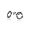Textured Love Knot Earrings Sterling Silver - Danny Newfeld Collection