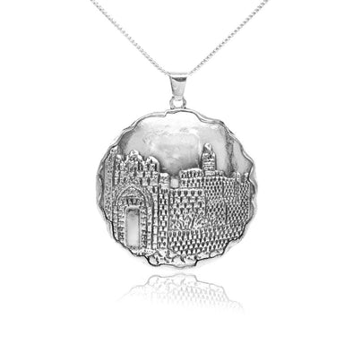 City of Jerusalem Pendant Sterling Silver