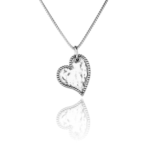 Personalized Heart Pendant Necklace Sterling Silver - Danny Newfeld Collection