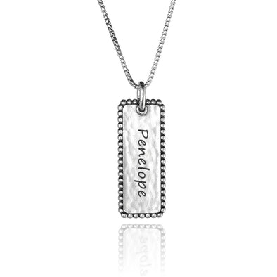 Vertical Personalized Bar Necklace - Danny Newfeld Collection