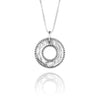 Round Personalized Pendant Necklace Sterling Silver - Danny Newfeld Collection