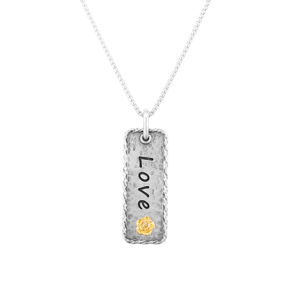 Engravable Vertical Bar Necklace Sterling Silver - dannynewfeld