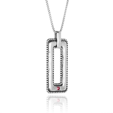 Tourmaline Open bar Necklace Sterling Silver - Danny Newfeld Collection
