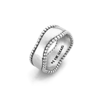Engravable Wave Ring Sterling Silver - Danny Newfeld Collection