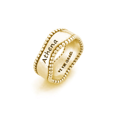 Engravable Wave Ring 14K Gold Plating Over Sterling Silver - dannynewfeld