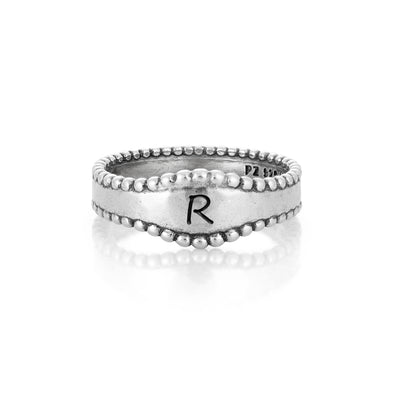 Initial Wave Ring Sterling Silver - dannynewfeld
