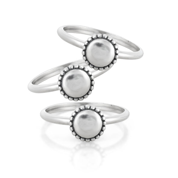 Engravable Stacking Rings Sterling Silver - Danny Newfeld Collection
