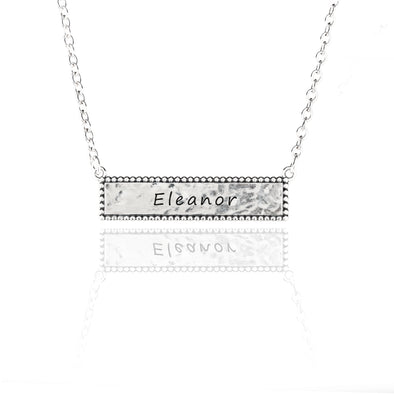 Personalized Bar Necklace Sterling Silver - dannynewfeld