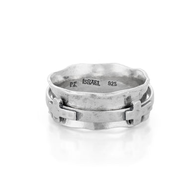 CROSS Spinner Ring Sterling Silver - Danny Newfeld Collection