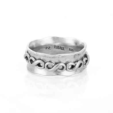 INFINITY Spinner Ring Sterling Silver - Danny Newfeld Collection