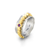 Amethyst Spinner Ring Sterling Silver - Danny Newfeld Collection
