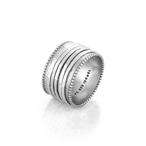 Spinner Ring Sterling Silver with Five Spinners - Danny Newfeld Collection