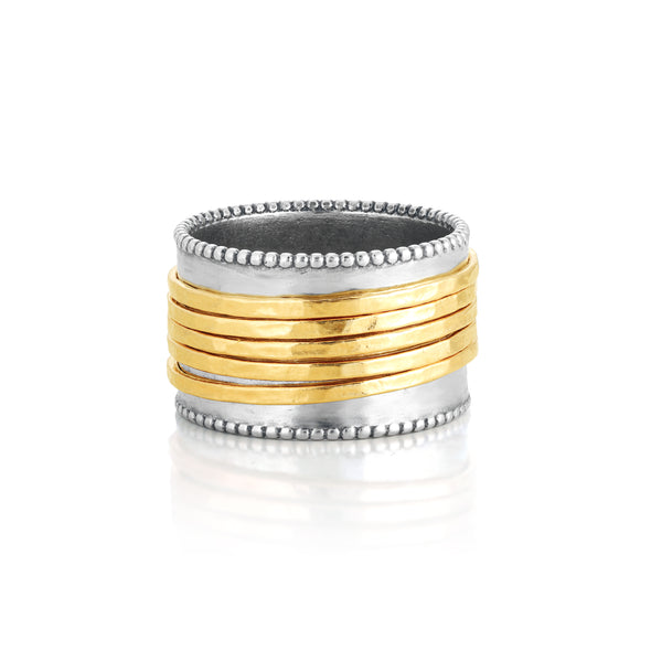 Spinner Ring Sterling Silver with Five Spinners - dannynewfeld