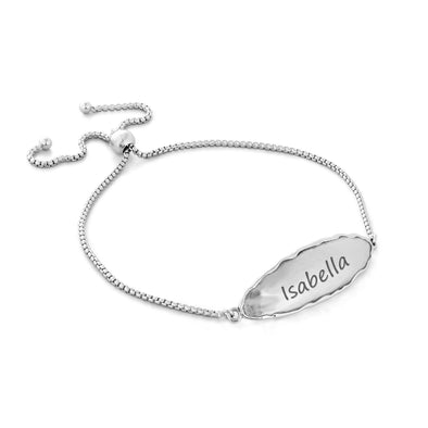 Engravable Plaque Bracelet Sterling Silver - Danny Newfeld Collection