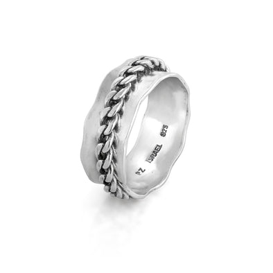 CURB design Spinner Ring Sterling Silver - Danny Newfeld Collection