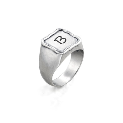 Engravable Square Signet Ring - dannynewfeld