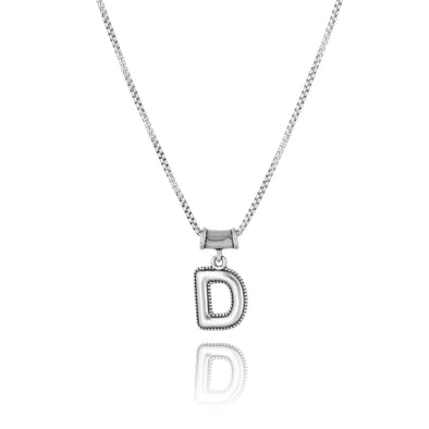 Initial Pendant Necklace Sterling Silver - dannynewfeld