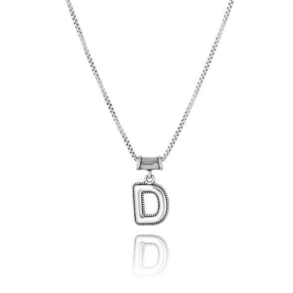 Initial Pendant Necklace Sterling Silver - Danny Newfeld Collection