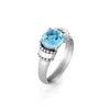 Blue Topaz Gemstone Ring Sterling Silver - dannynewfeld