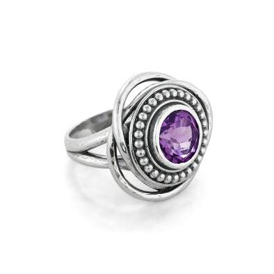 Amethyst Gemstone Ring Sterling Silver - Danny Newfeld Collection