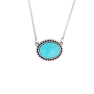 Turquoise Gemstone Pendant Sterling Silver - Danny Newfeld Collection