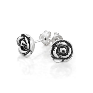 Stud Flower Earrings Sterling Silver - dannynewfeld