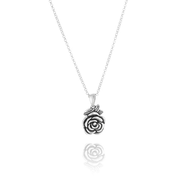 Rose Pendant Necklace Sterling Silver - dannynewfeld