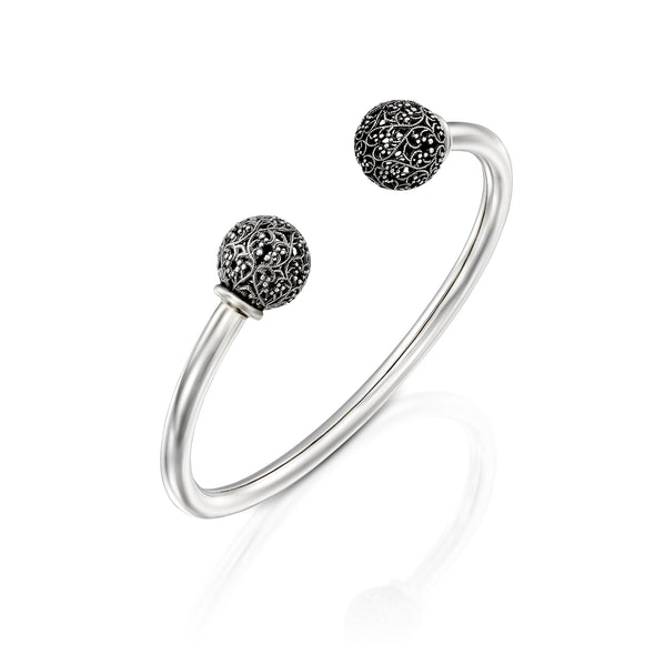 Lace Bead Cuff Sterling Silver - Danny Newfeld Collection