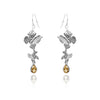 Butterfly Gemstone Dangle and Drop Earrings Sterling Silver