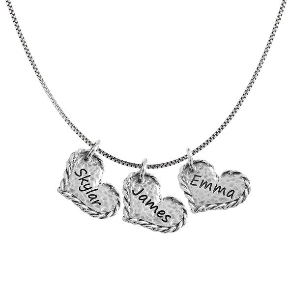 Engravable Heart Pendant Necklace Sterling Silver - dannynewfeld