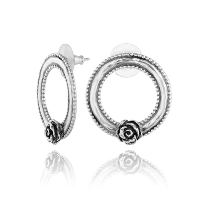 Front-Facing Hoop Earrings Sterling Silver - dannynewfeld