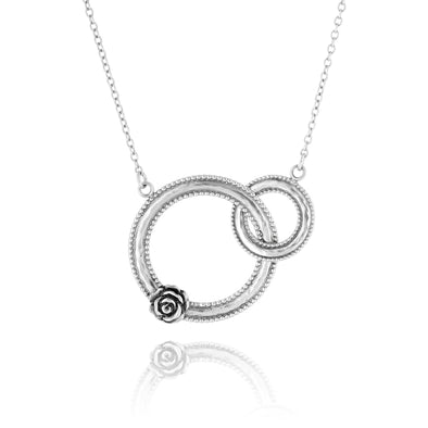 Interlocking Circle Necklace Sterling Silver - dannynewfeld