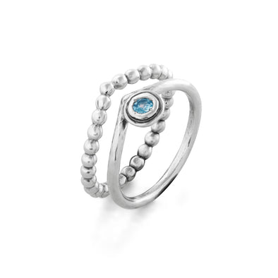Birthstone Stacking Ring Sterling Silver - Danny Newfeld Collection