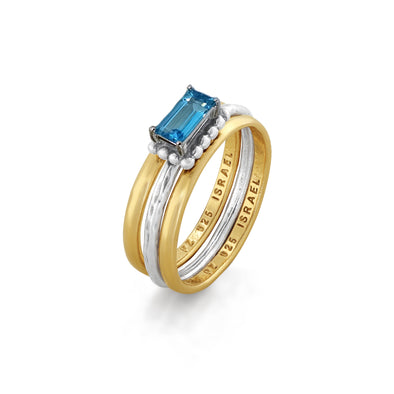 Blue Topaz Stacking Ring Sterling Silver - Danny Newfeld Collection