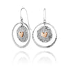 14K Gold Plated Heart Dangle Earrings Sterling Silver - Danny Newfeld Collection