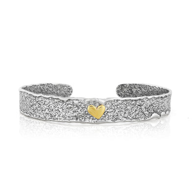 Heart Cuff Bracelet Sterling Silver - Danny Newfeld Collection